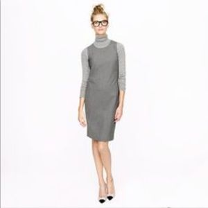 NWT J Crew Sleeveless Shift Dress in Stretch Wool